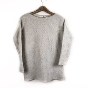 Evam eva Beige and Gray Knit Sweater Size 1
